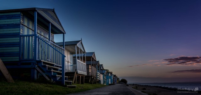 Tankerton Beach Huts at Sunset