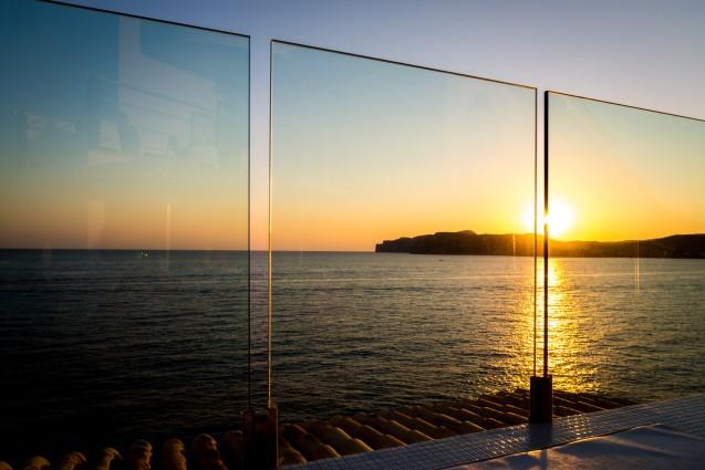 The Blue Bar at the Punta Del Mar Santa Ponsa Mallorca