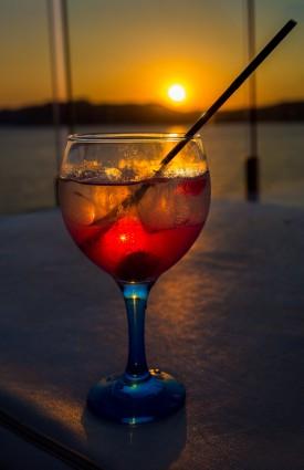 Cocktails at The Blue Bar Punta Del Mar, Santa Ponsa, Mallorca