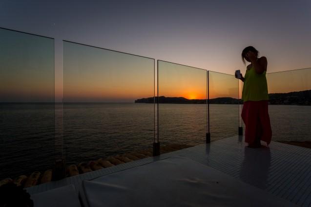 Sunset at The Blue Bar Punta Del Mar