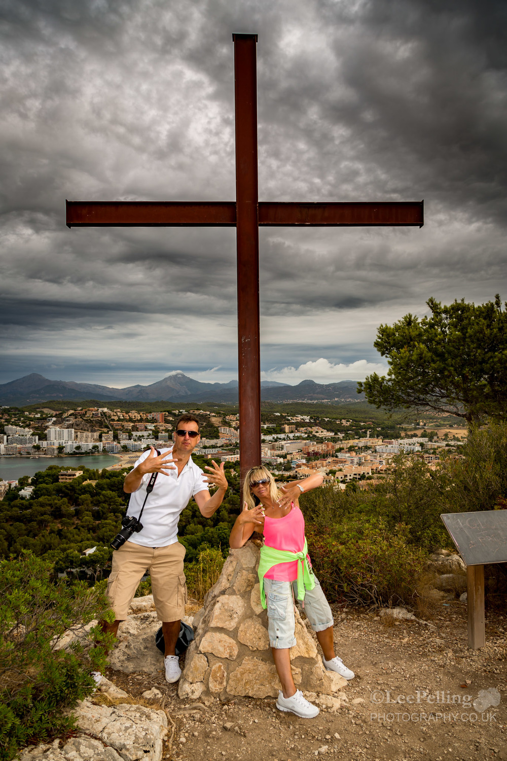 Deb and Paul at the Cross Santa Ponsa