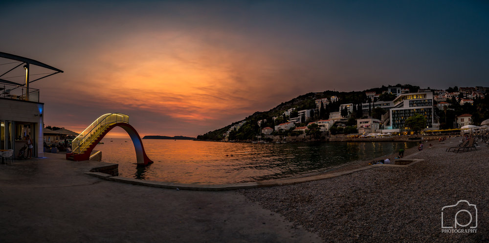 Lapad Sunset Pano - 9619