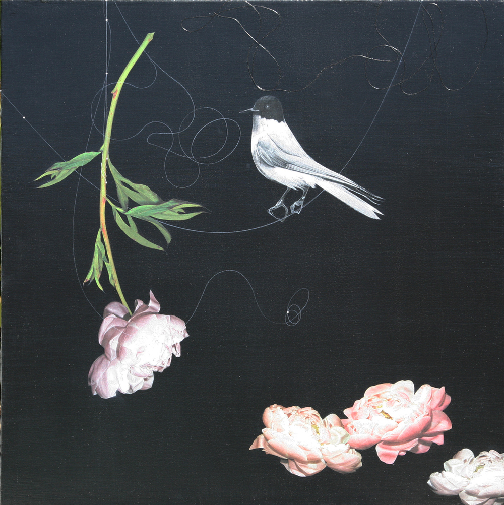 Peonies and Bird #101