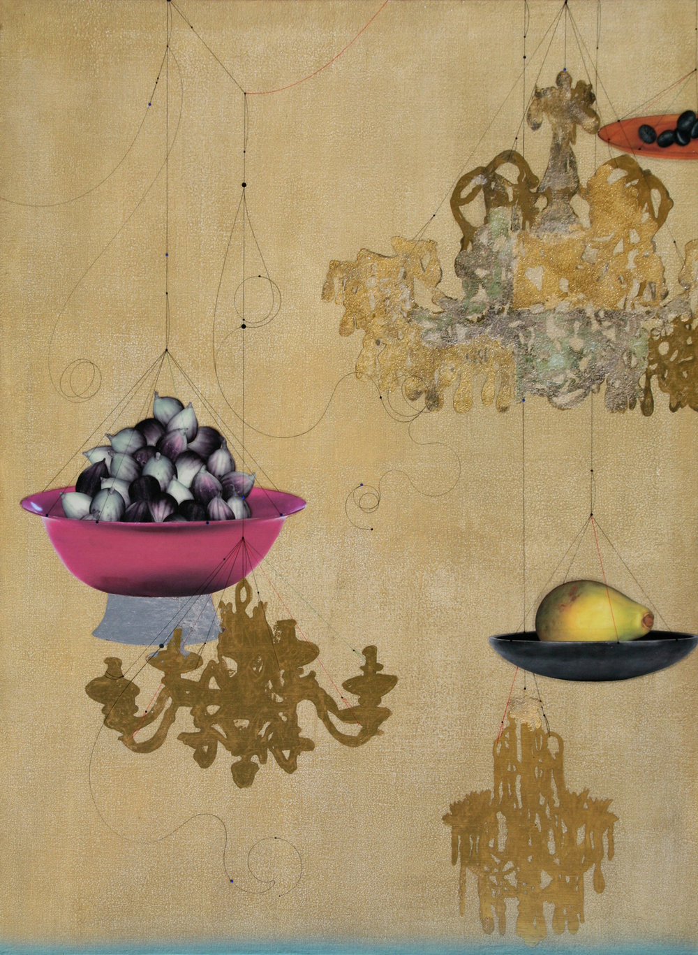 Fig, Papaya, Olive and Chandelier #101