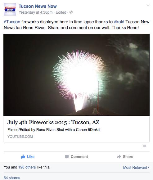 Kold 13 Tucson News Now Posted My Time Lapse Film Rene Rivas