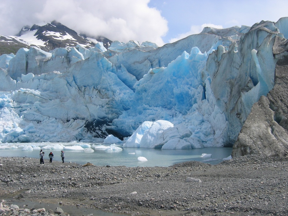 Exploring beautiful glaciers in Alaska.