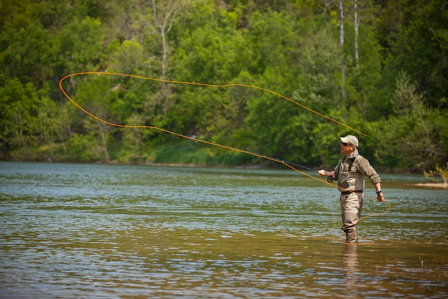 casting for fly fishing