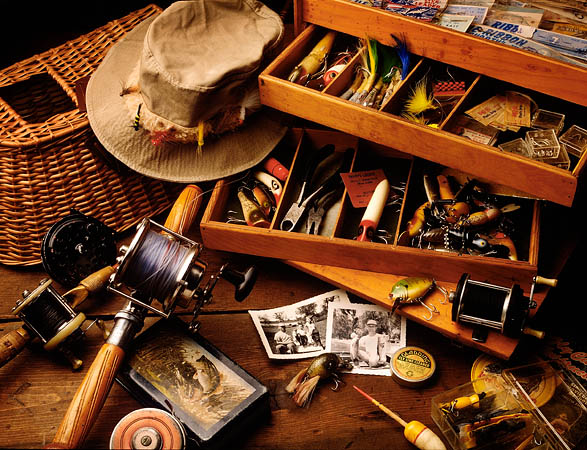 tackle box of fishing gear