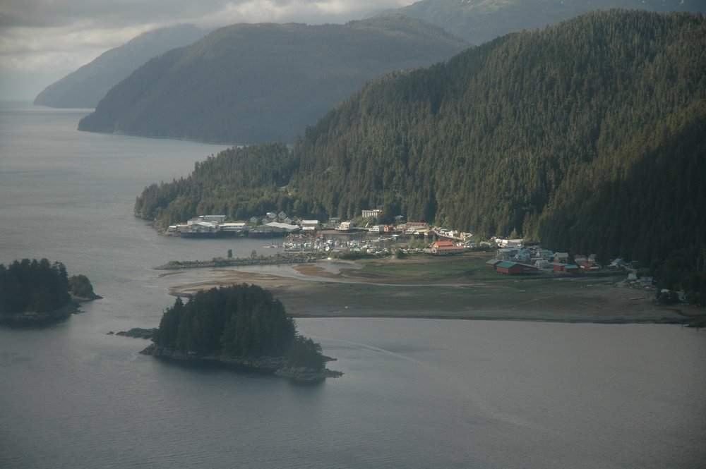 sky view of pelican alaska