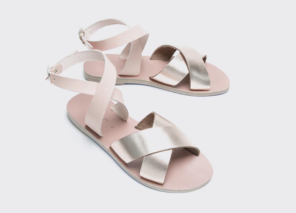 1393ed583ee1 Kyma Patmos Sandals in Pink Bronze-