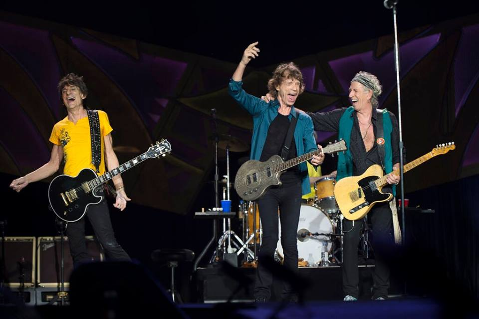 The Rolling Stones on Tour in 2015. All in their 70s proving you are never too old to rock n' roll and still like it.