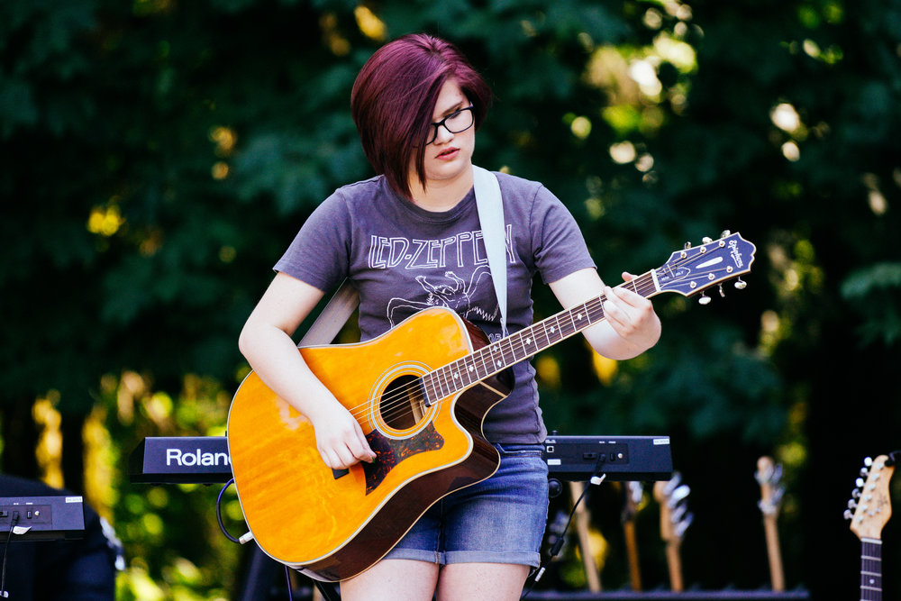 Teen Rock Camp - Join us for our Teen Rock Camps for ages 13-18 for beginner, intermediate, and advanced music students in July and August. Camp is half-day on Wednesday, Thursday, and Friday with a performance that evening. Sign Up and Save 25%!