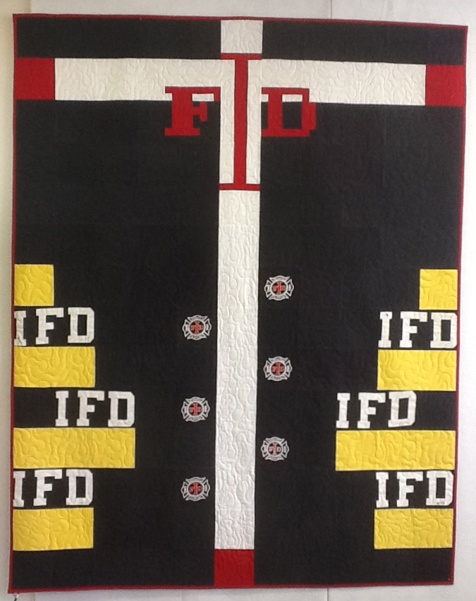 Indianapolis Firefighter T-Shirt Quilt