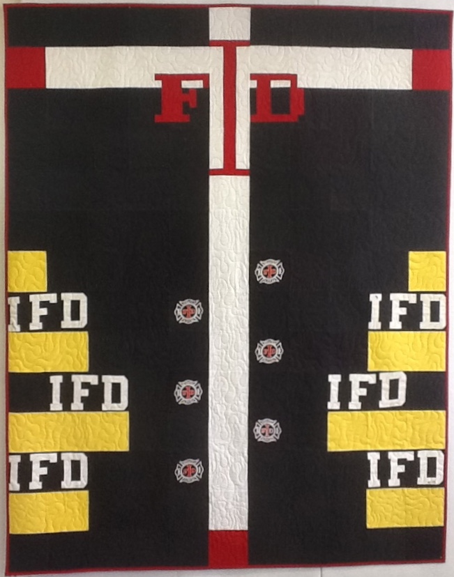 Indianapolis Fire Dept T-Shirt Quilt