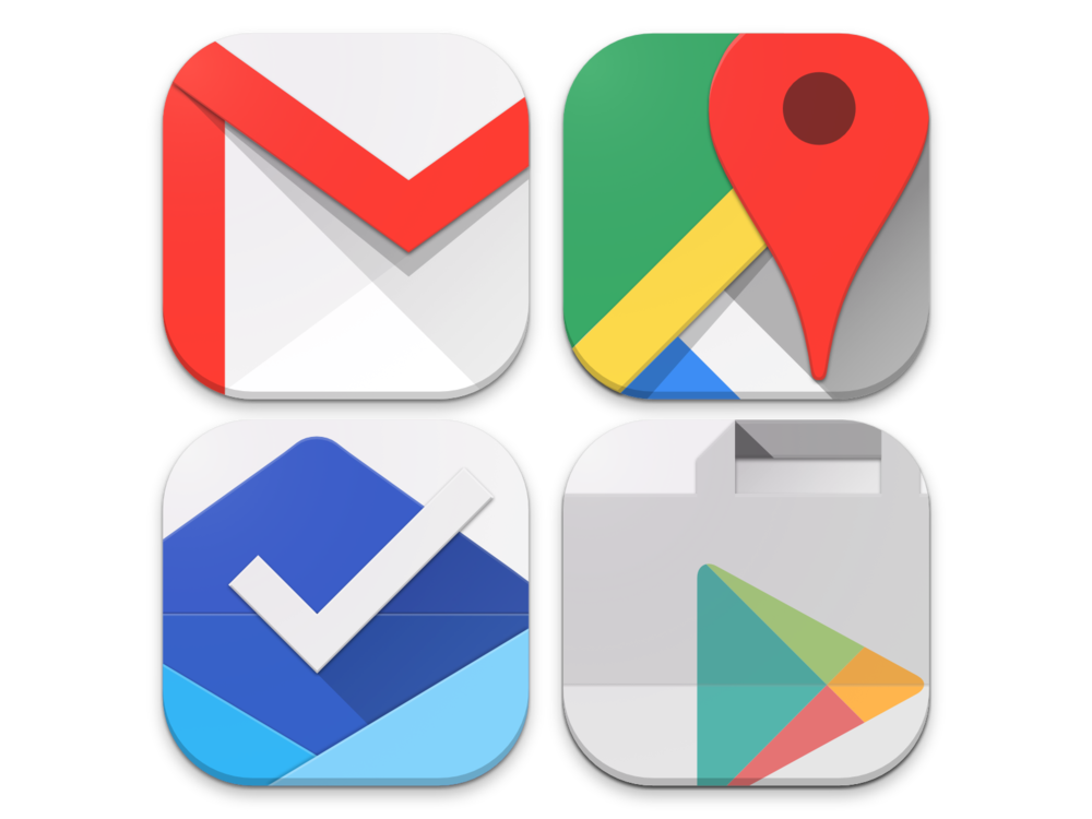 A few of Google's primary icons ^^^