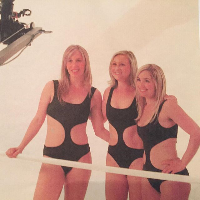 Tbt to 2006 and the very first lithe video shoot! @tifnork Jackie & @laurenboggi  #litheinstructor #babies
