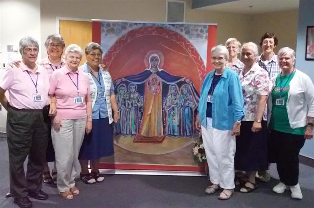 SMSM group: Claire Leonard (Associate), Sisters Palepa, Christina, Telesia, Virginia, Margaret, Aloisia, Catia & Claire