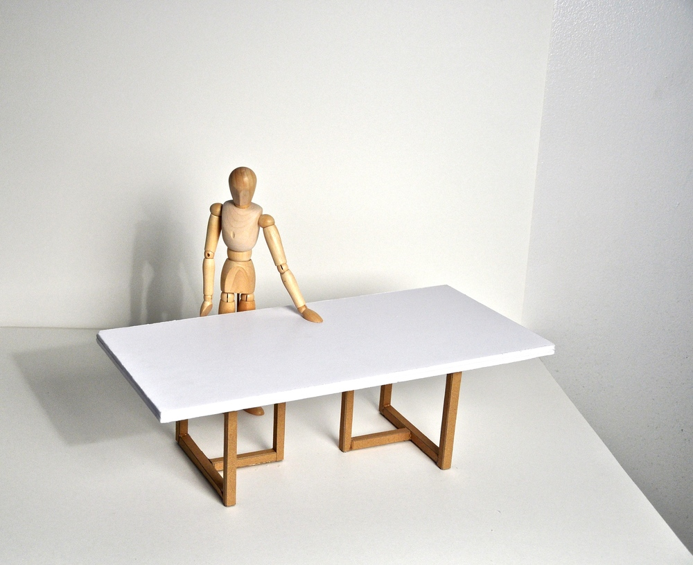 Model of Like Edge Oak Slab Table (In progress)
