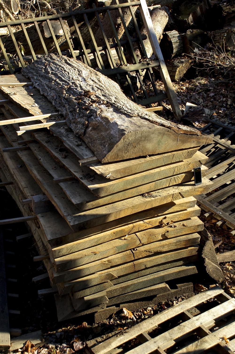 Curing oak slabs