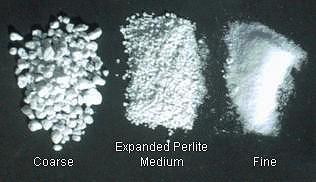 various grades of expanded perlite aggregate