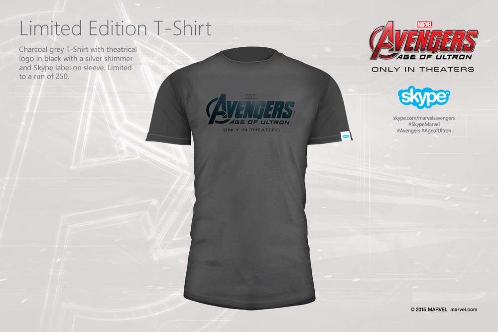 A custom designed limited edition logo shirt was also available as a prize, printed with silver shimmer ink.