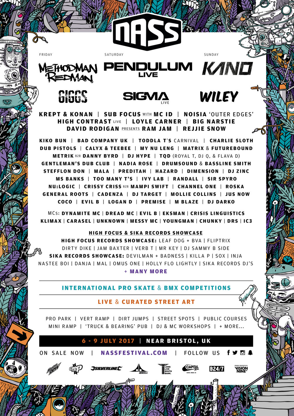 Lineup poster 2017