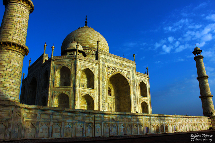 Whatever your reason for visiting.  It's impossible not to look up at the Taj Mahal and be awe inspired.