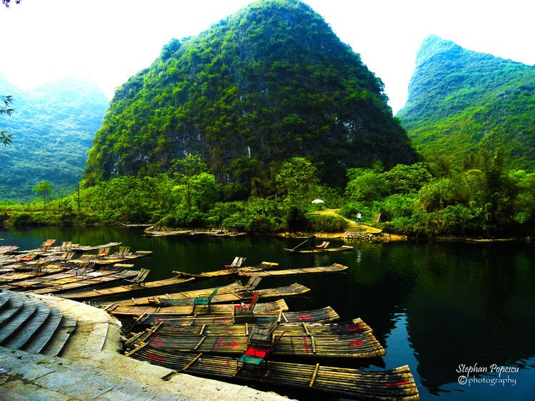 Getting ready to float down the Li River.