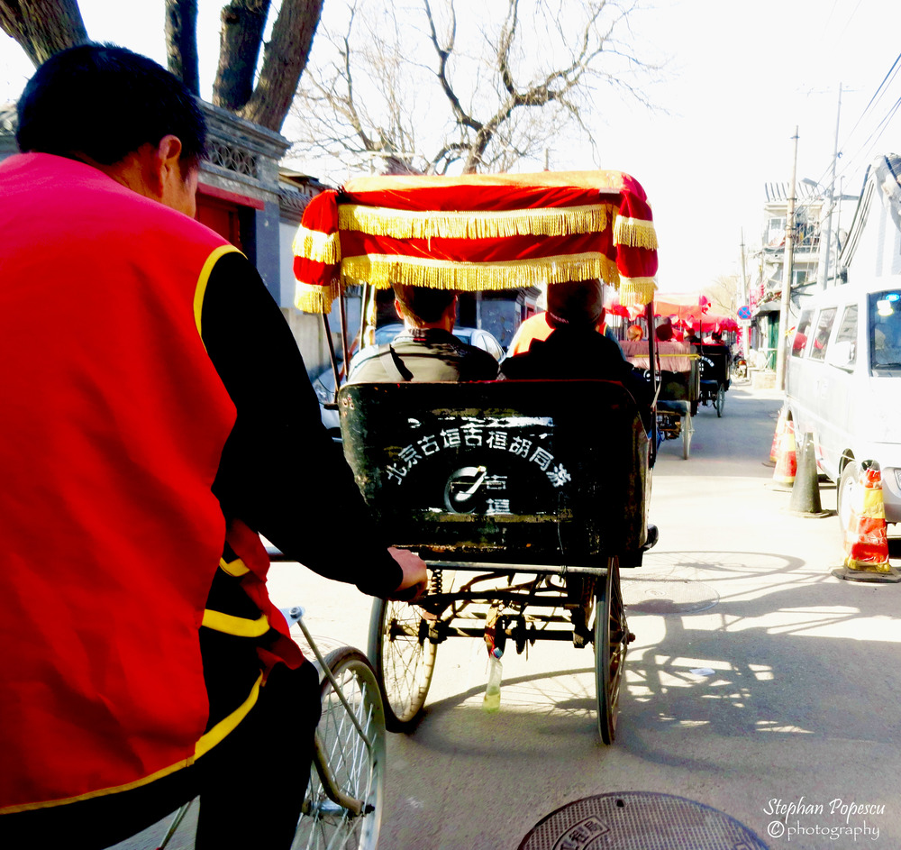 Beijing Hutongs - Travelling through Beijing's hutong district was a great way to see rural/local life (while eating some delicious food as well) and of course there's no better way to visit than by rickshaw.