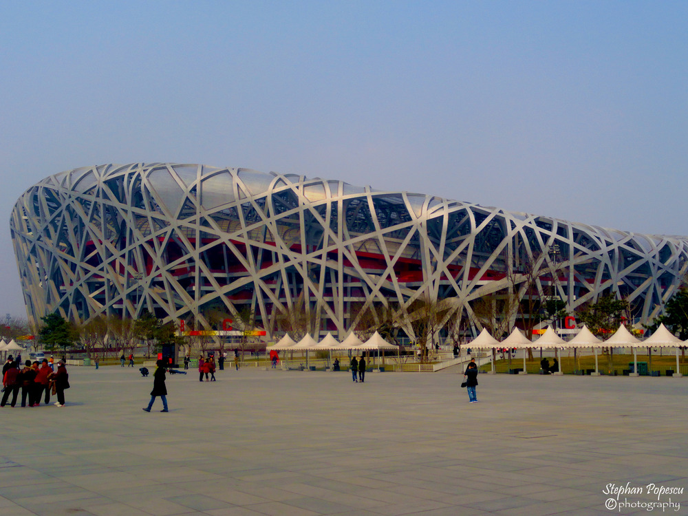 "Bird's Nest - Part of the ""newer"" China, I thoroughly enjoyed exploring the Olympic Village from the 2008 Games, including the Bird's Nest, the crown jewel of the Olympic stadiums."