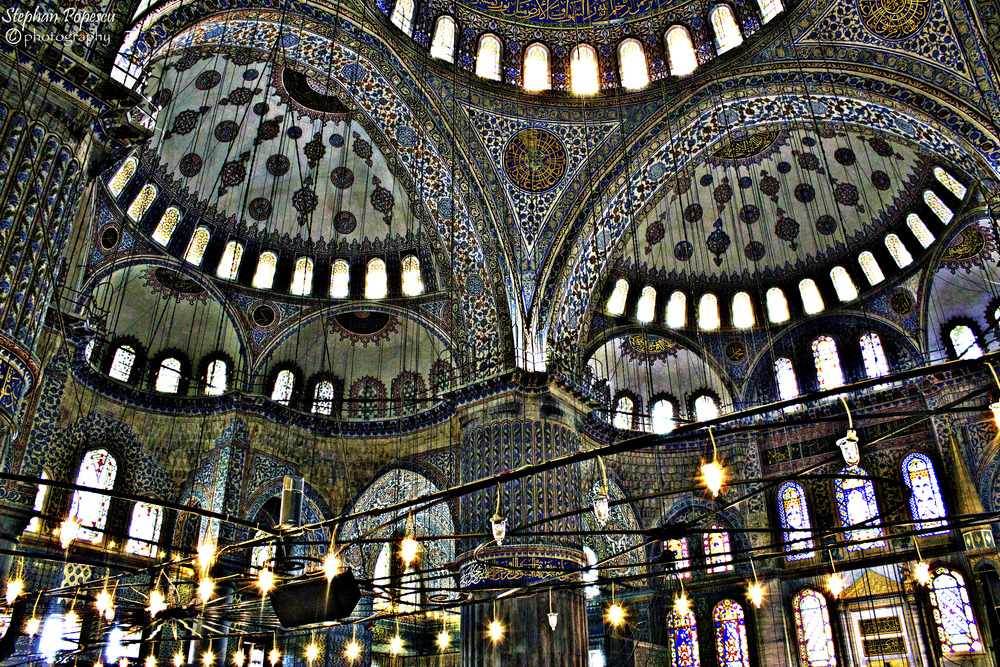 I prefer the inside of the Aya Sofya, but the inside of the Blue Mosque is stunning in its own regard. Seeing the intricate details and artistic brilliance that has gone into sculpting and painting the mosque firsthand is a must or else you'll never be able to truly appreciate the beauty seen here.