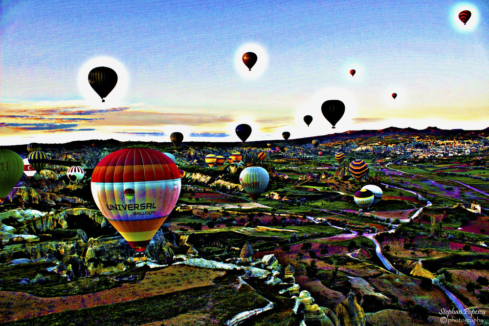 No visit to Cappadocia is complete without an early morning wake-up call to rise in a hot air balloon above the countryside.