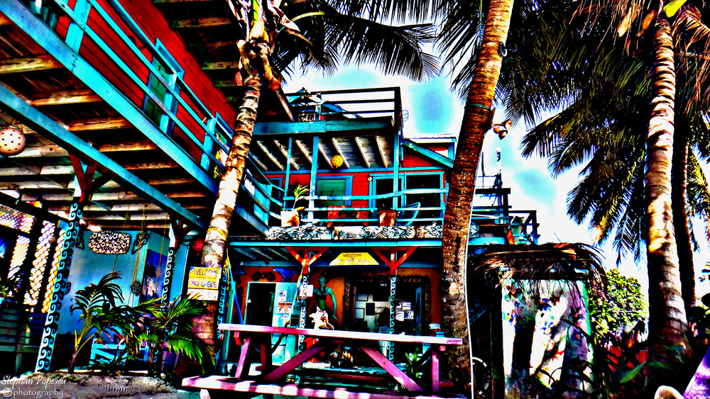 If your backpacking adventures have brought you to Caye Caulker, the odds are that you've probably spent at least a night or two at Yuma's house. Located right on the shoreline as you hop off the water taxi, even if you haven't stayed here, you've seen the bright colours, funky furniture and relaxing atmosphere that Yuma's has to offer. On an tiny island such as Caye Caulker, Yuma's is one of the standout sights.