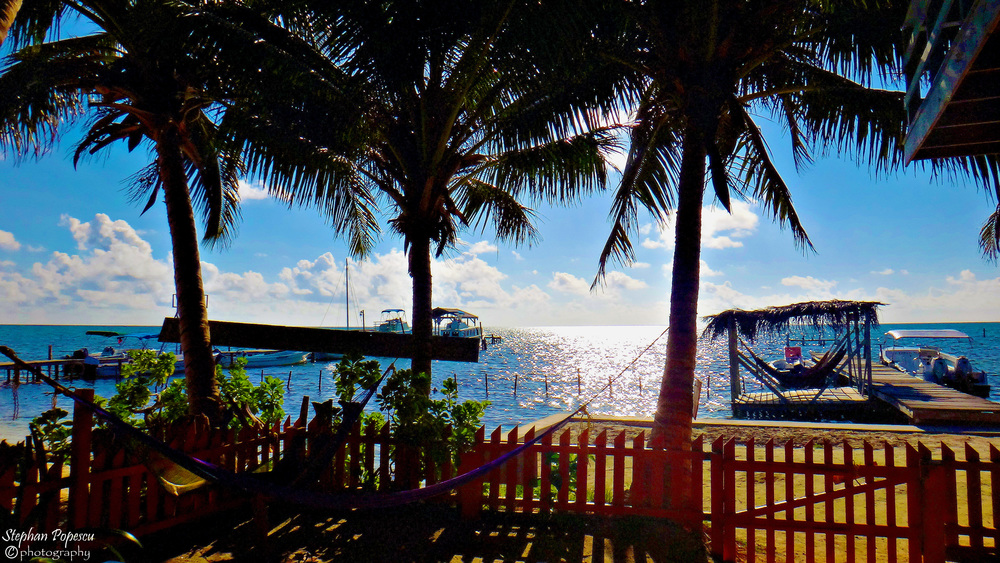 Arguably even nicer than Yuma's, is the view you get of the sea, whether you're grabbing a drink & playing some cards with some fellow travellers or having a relaxing nap on one of the available hammocks. Either way, the view here is arguably one of Caye Caulker's finests.