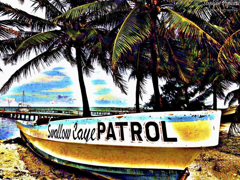 It may be a tiny island, but Caye Caulker packs a whole lot of punch. The Swallow Caye Patrol boat is situated in the centre of the island, where there's always something going on. Because of that, this boat has become one of (if not the most) iconic sites in all of Caye Caulker. No visit to this island would be complete without a picture like this.