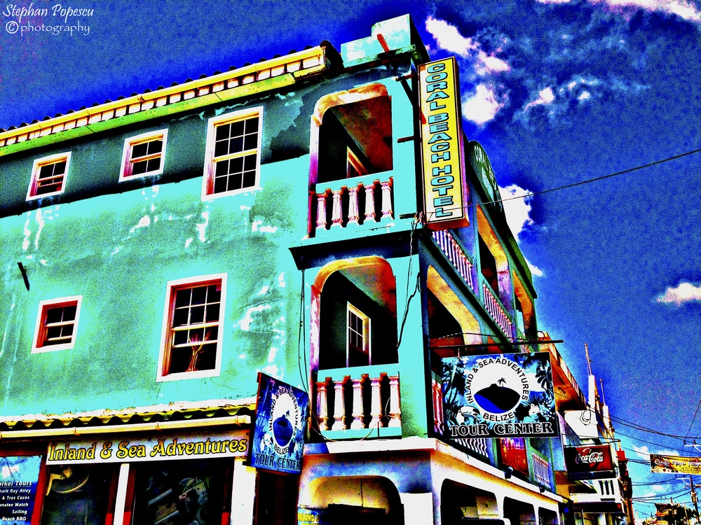 The main town on Ambergris Caye, San Pedro is fascinating to explore on a day like today's. Local merchants can be found at every street corner and there's always a dive shop or local bar to check out as well. I personally enjoyed walking down the streets of San Pedro and seeing all the vibrant colours around the city. As with lots of life in Central America, the colours are always fun and entertaining - just like the people.