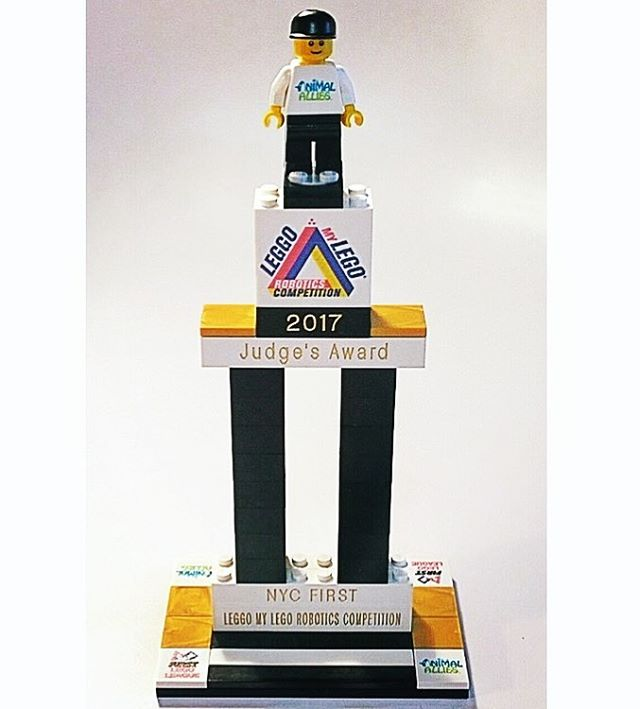 LEGO trophy for an FLL event. Please visit our FLL store here: http://ow.ly/MS9k30gCThN