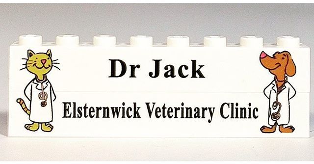 Decorate your desk with #LEGO style like Dr. Jack the vet did! http://www.brickengraver.com