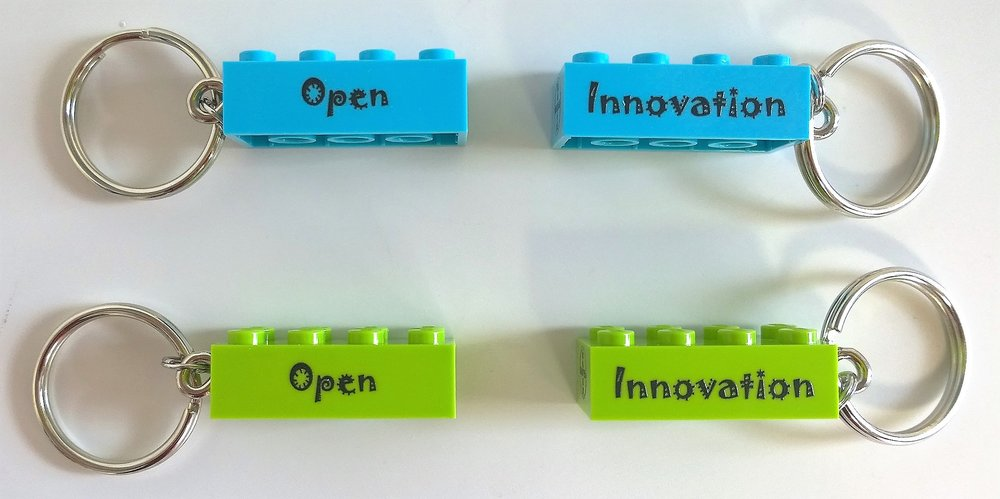 Engraved LEGO Keychain
