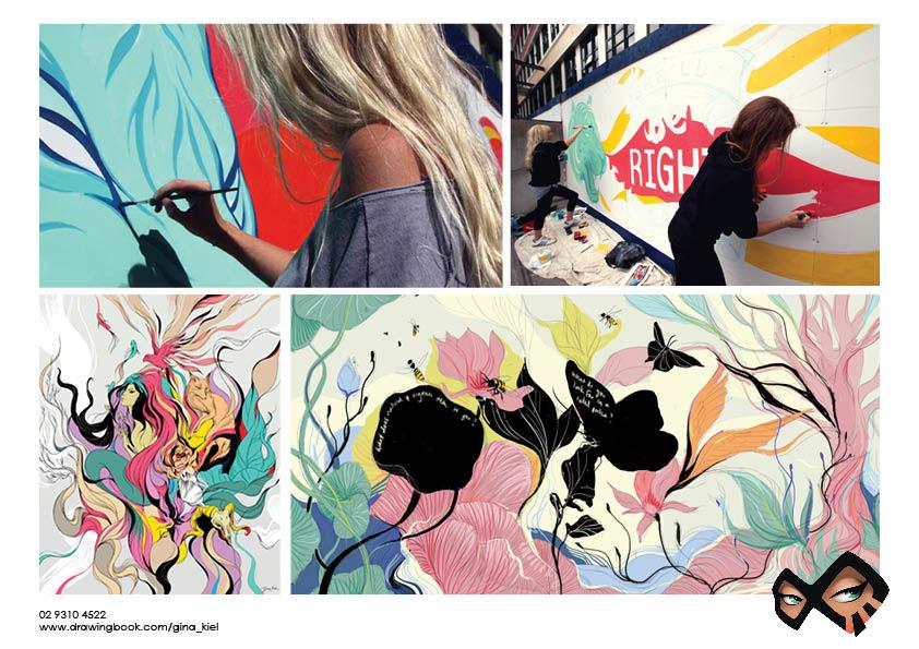 Gina Kiel Wall Painting Murals