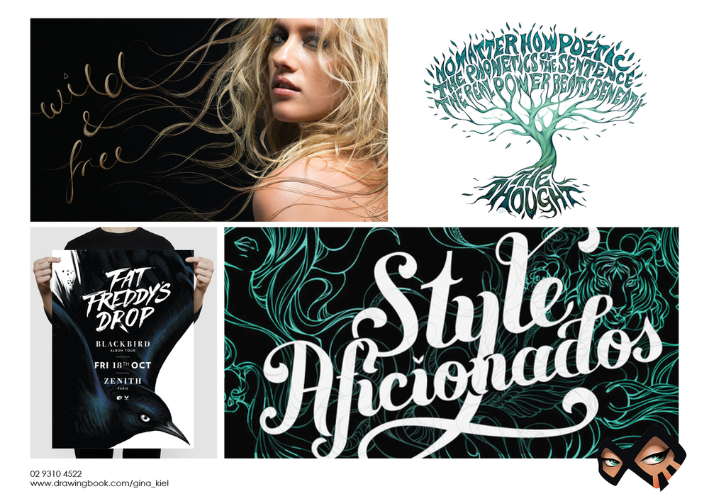 Gina Kiel Typography