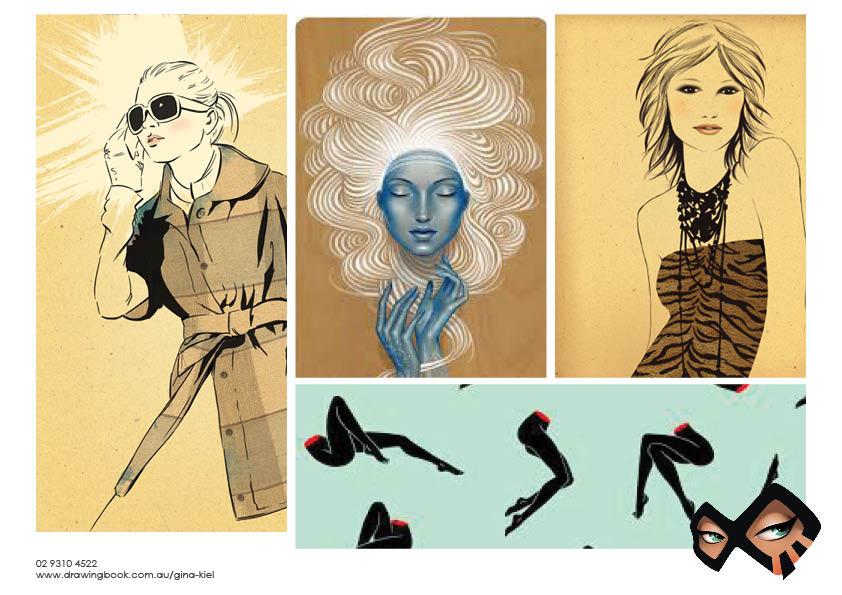 Gina Kiel Fashion Illustration