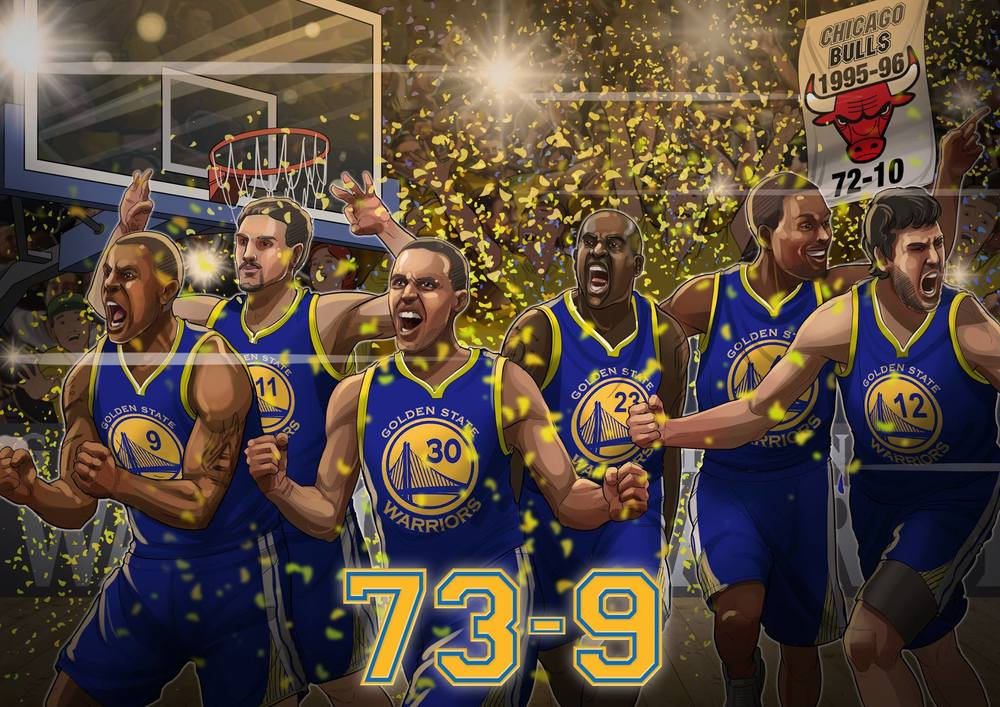 Golden State Warriors: 73-9. Record broken!