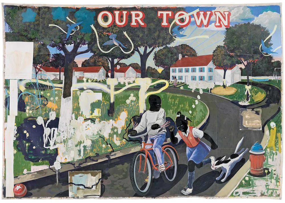Our Town, 1995. Kerry James Marshall.
