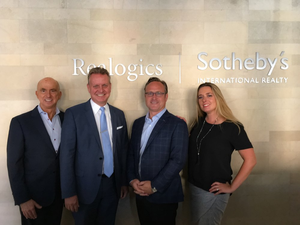 From Left: Michael X. Ford (RSIR); Brad Henderson, President & CEO of Sotheby's International Realty Canada; Dean Jones (RSIR); and Andrea Savage (RSIR) met recently in Seattle to discuss international housing trends and concluded that Seattle will receive increased attention now that a new 15-percent transfer tax will be charged in Vancouver for foreign buyers.