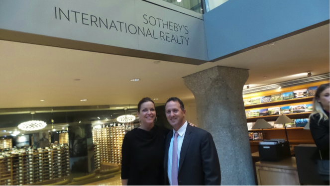 Jennifer Johnsen (RSIR) & Francis Santangelo, Senior Vice President, Sotheby's International Realty.