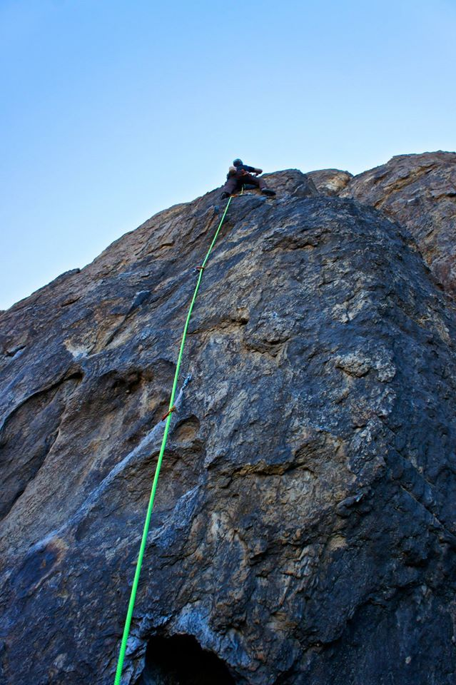 Michael on Midway (5.10c)