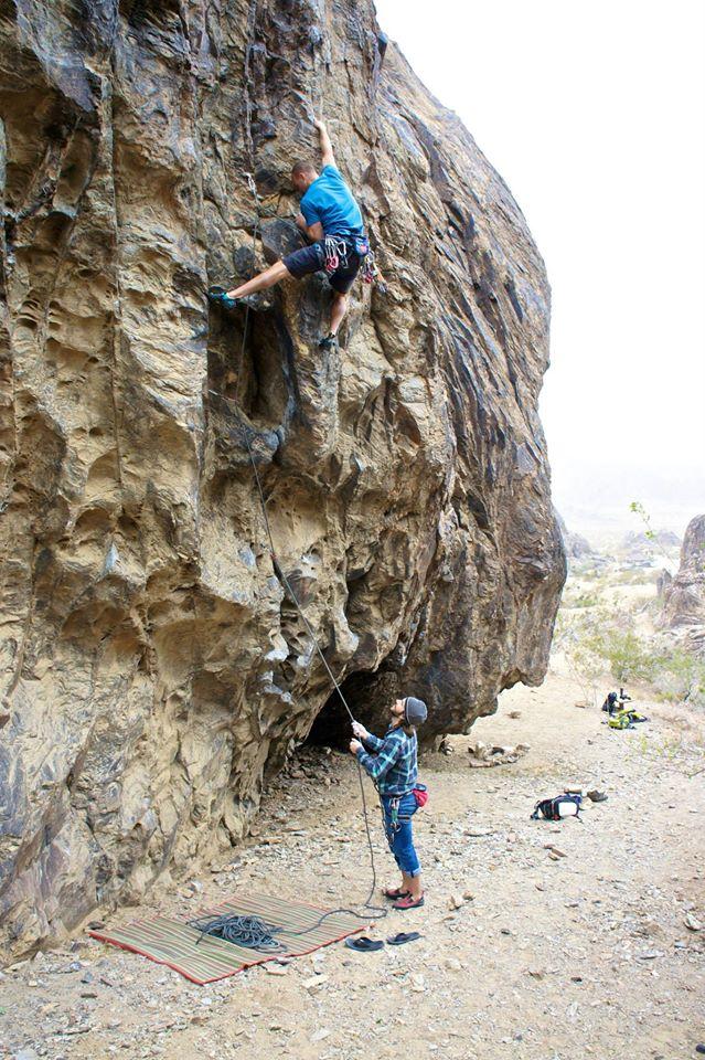 Greg on a 5.12 climb