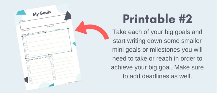 Smart, Simple, and Effective Goal Setting for Success | In this post I'm going to lay out for you my personal workflow for goal setting and achievement. I review my exact workflow for goal planning, and example from one of my own personal goals, + free printable templates for download to do your own goal setting process. I promise, it's effective and if you are truly ready to achieve your goals this year, then you won't be disappointed | shedreamsofalpine.com