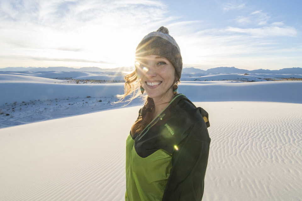 The Ultimate Guide to White Sands National Monument in New Mexico| These beautiful gypsum sand dunes should be high on your traveling bucket list. From hiking, to backcountry camping, to bicycling, to epic photography shots at sunset, there are a lot of fun things to do at White Sands! In this post I detail all you need to know about visiting this breathtaking National Monument. | shedreamsofalpine.com